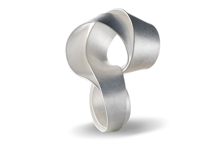 "ORI ring ""curl"", silver / see VIDEOS for ORI in rotation"