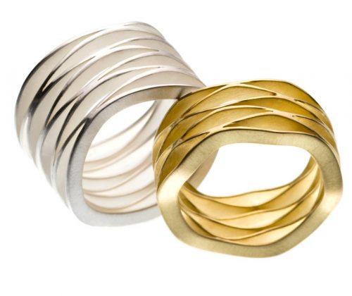 wave [8 disks] silver together with wave [6 disks] goldKLICKfor complete series WAVE