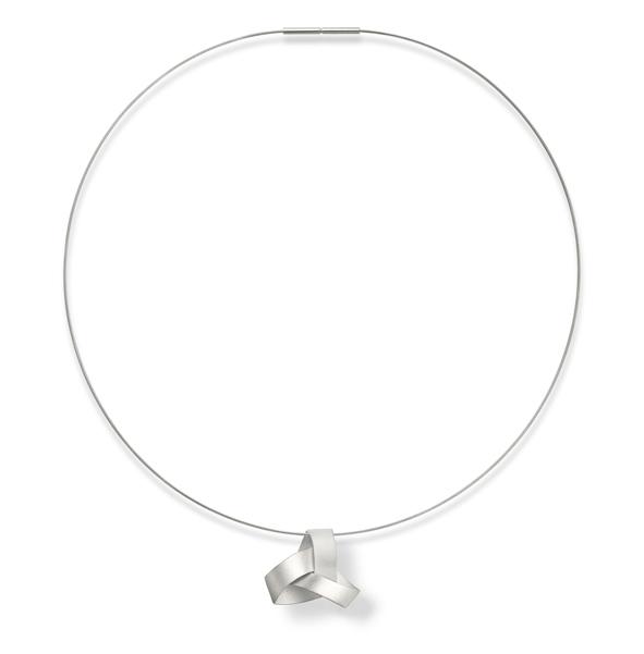 series MUSUBI, shape KUMI, pendant, silver