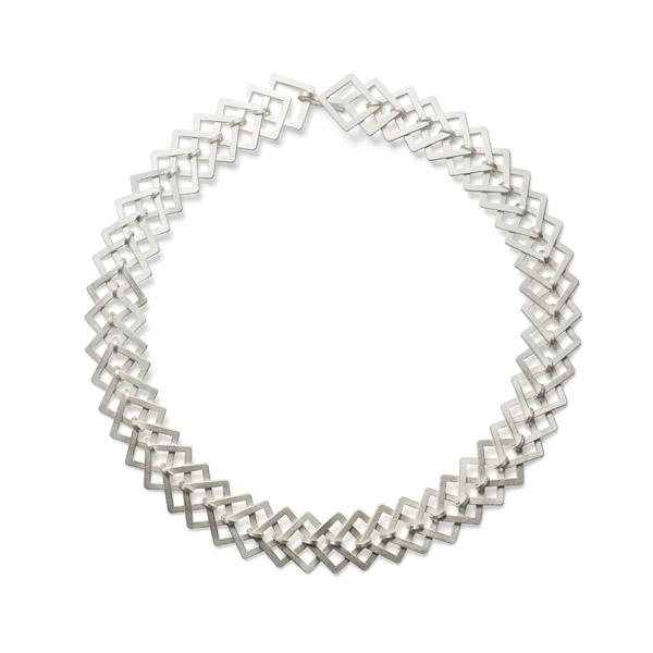 SQUARE necklace silver