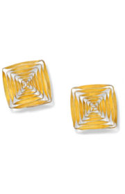 "earrings ""Spiral"" squared-shape, gold 23mm"