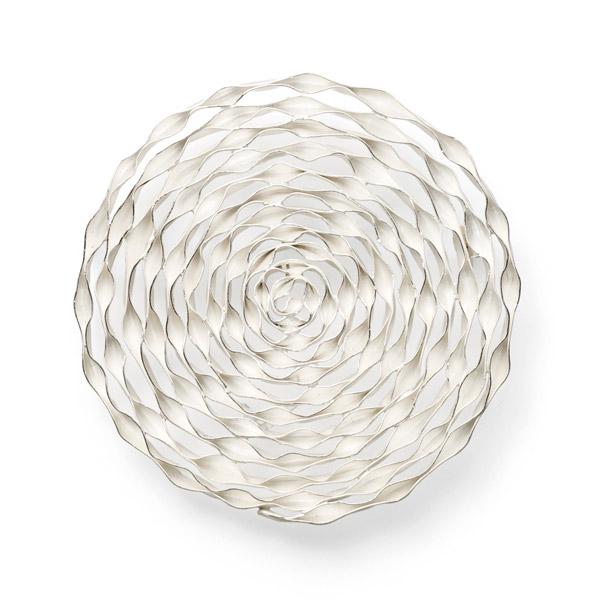 spiral CIRCLE brooch silver