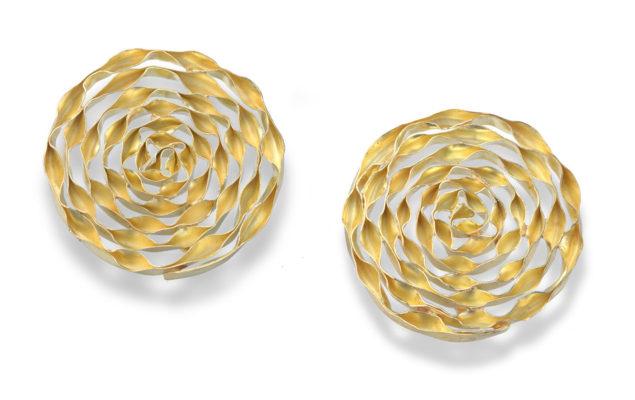 SPIRAL circle-shape, 26mm, gold 18 karat
